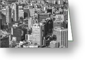 Cityscape Pyrography Greeting Cards - Seoul South Korea Greeting Card by Eduard Kraft