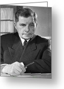 1950s Portraits Photo Greeting Cards - Sergey Ilyushin, Soviet Aircraft Designer Greeting Card by Ria Novosti