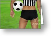 Young Teen Greeting Cards - Sexy Referee Greeting Card by Oleksiy Maksymenko