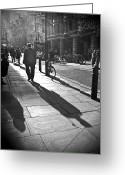 Unique Image Greeting Cards - Shadow Of A Man Greeting Card by Linda Wisdom