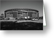Baseball Framed Prints Greeting Cards - Shea Stadium - New York Mets Greeting Card by Frank Romeo