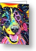 Sheepdog Mixed Media Greeting Cards - Sheltie Greeting Card by Dean Russo
