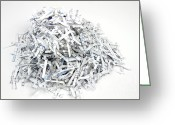Secrecy Greeting Cards - Shredded Paper Greeting Card by Blink Images