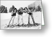 Film Still Photo Greeting Cards - Silent Film Still: Beach Greeting Card by Granger