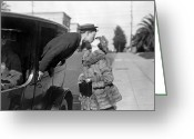Glove Greeting Cards - Silent Film Still: Kissing Greeting Card by Granger