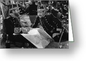Officer In Uniform Greeting Cards - Silent Film Still: Uniforms Greeting Card by Granger