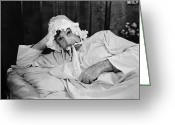 Nightgown Greeting Cards - Silent Still: Bedroom Greeting Card by Granger