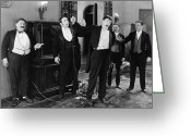 Tuxedo Greeting Cards - Silent Still: Group Of Men Greeting Card by Granger