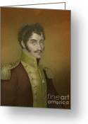 Presidency Greeting Cards - Simón Bolívar, Venezuelan Political Greeting Card by Photo Researchers