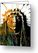 Native American Greeting Cards - Sitting Bear Greeting Card by Paul Sachtleben