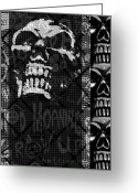 Roseanne Jones Greeting Cards - Skull Montage Greeting Card by Roseanne Jones