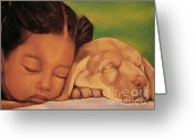 Realistic Pastels Greeting Cards - Sleeping Beauties Greeting Card by Curtis James