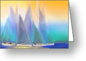 Mathilde Vhargon Greeting Cards - Smooth Sailing Greeting Card by Mathilde Vhargon