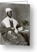 Personage Greeting Cards - Sojourner Truth, African-american Greeting Card by Photo Researchers