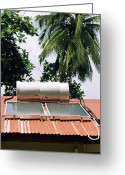 Heater Greeting Cards - Solar Water Heater Greeting Card by David Nunuk