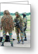 Camouflage Clothing Greeting Cards - Soldiers Of The Special Forces Group Greeting Card by Luc De Jaeger