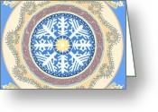 Winter Painting Greeting Cards - Solstice Greeting Card by Karen MacKenzie