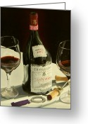 Wine Bottle Prints Greeting Cards - Something Special Greeting Card by Brien Cole