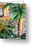 Italy Drawings Greeting Cards - Sorrento Greeting Card by Mindy Newman