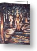 Woods Pastels Greeting Cards - Sounds of a Silent Nature Greeting Card by Dian Paura-Chellis