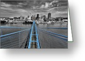 Selective Color Greeting Cards - South Tower - Selective Color Greeting Card by Russell Todd