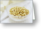 Tofu Greeting Cards - Soya Beans Greeting Card by David Munns
