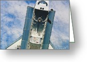 Space Ships Greeting Cards - Space Shuttle Atlantis Greeting Card by Science Source