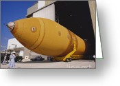 Space Ships Greeting Cards - Space Shuttle External Tank Greeting Card by Science Source