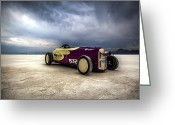 Hot Rod Greeting Cards - Speed Week photography and Images by Holly Martin Greeting Card by Holly Martin