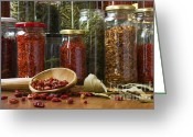 Closeup Greeting Cards - Spicy still life Greeting Card by Carlos Caetano