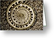 Shell Texture Greeting Cards - Spiral Greeting Card by HD Connelly