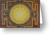 Yantra Greeting Cards - Sri Yantra Greeting Card by Karl Seitinger