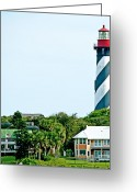 Florida House Greeting Cards - St. Augustine Lighthouse Greeting Card by Kenneth Albin