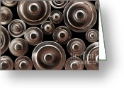 Recycling Photo Greeting Cards - Stack Of Batteries Greeting Card by Carlos Caetano