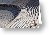 Bleachers Greeting Cards - Stadium Bleachers Greeting Card by Jeremy Woodhouse