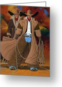 Fine_art Greeting Cards - Stand By Your Man Greeting Card by Lance Headlee