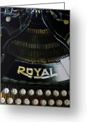 Typewriter Greeting Cards - Standard Greeting Card by Denny Bond