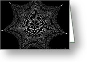 Star Points Greeting Cards - Star Fish Kaleidoscope Greeting Card by Donna Brown