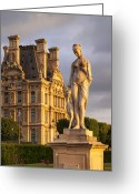 Tuileries Greeting Cards - Statue below Musee du Louvre Greeting Card by Brian Jannsen