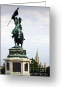 Wien Greeting Cards - Statue of Prince Eugen Greeting Card by Andre Goncalves
