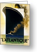 Adolphe Greeting Cards - Steamship Travel Poster Greeting Card by Granger