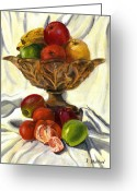 Food And Beverage Painting Greeting Cards - Still-life Greeting Card by Viktor Stakhov