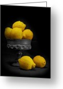 Vintage Key Greeting Cards - Still Life with Lemons Greeting Card by Tom Mc Nemar