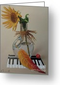 Hyper-realism Greeting Cards - Still life with sunflower Greeting Card by Alexander  Titorenkov