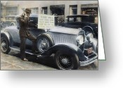 1929 Roadster Greeting Cards - Stock Market Crash Greeting Card by Granger