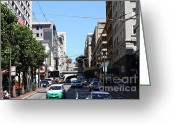 Tunnels Greeting Cards - Stockton Street Tunnel in San Francisco Greeting Card by Wingsdomain Art and Photography