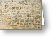 Abstract Building Greeting Cards - Stone Wall Greeting Card by Matthias Hauser