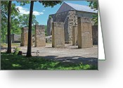 Flower Works Greeting Cards - Stonehenge at Lockridge Greeting Card by Robert Sander