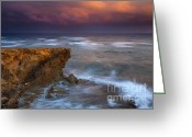 Pink Pastel Greeting Cards - Storm Driven Greeting Card by Mike  Dawson