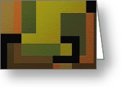 Geometrical Art Painting Greeting Cards - Strength Greeting Card by Ely Arsha